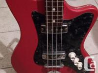 Dutch made 60's Bass Red vinyl body cover Nice
