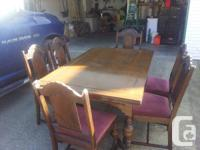 This antique dining collection was bought 2 years ago