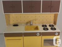 """Includes kitchen unit scaled to use with 11 ½"""" dolls 2"""