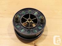 This vintage reel was manufactured in 1936 in Reddich