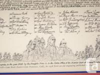 Vintage American declaration of Independence .Matted