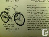 I have a few antique CCM bicycles and miscellaneous