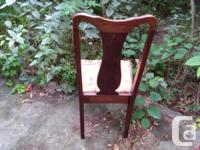 "20"" W x 19""D x 38.5"" H Beautiful solid wood chair"