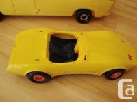 Vintage Barbie 1979 Supervette Yellow Corvette -For