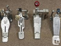 Duncan Music On consignment, 4 vintage kick pedals.