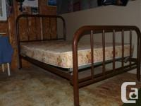 Antique Bed. Iron structure, foot as well as head board