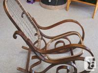 Old bentwood rocking chair, seat & back missing, would