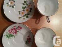 Estate sale of a selection of tea cups with saucers in