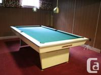"Vintage Brunswick Celebrity Pool Table. 56"" wide x 100"""