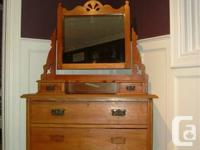Antique Dresser with Mirror - Brought over from England