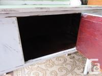 Smaller vintage cabinet/wash stand. Top and backsplash