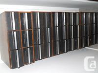 Cassette holders . Each case holds 36 cassettes that