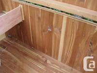 Vintage cedar inside lined blanket box in mahogany