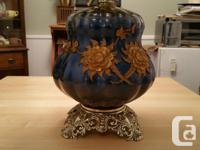 2 Vintage Ceramic End Table Lamps from the 60's for