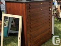 This gorgeous large cabinet was built in 1937 for the