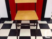 I am selling 15 vintage classroom chairs for $25 each