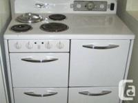 "VINTAGE CLEAN CONDITION 40""GE ELECTRIC RANGE WHITE   UP"