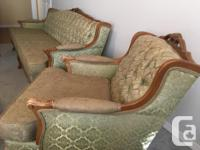 Vintage/Retro couch and chair - new cushions which