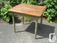 Vintage Country Kitchen Table re-finished 2 board top