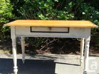 Vintage Country Table with large cutlery drawer
