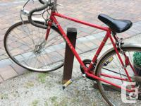 "Red, 21"" frame. Good used condition but has not been"