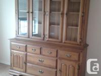 Vilas Maple Dining Set Hutch Sideboard Table 6 Chairs