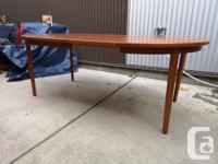 Very nice mid century modern teak dining table made in