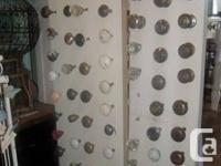 Door knobs, plates, hinges, window latches, switch over