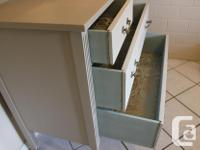Refinished vintage dresser and mirror. Chalk painted