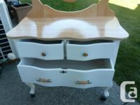 Small all wood dresser in very nice condition. Includes