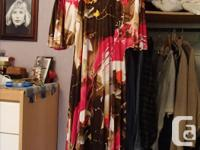 6 long dresses and 1 jacket worn by my mom in the