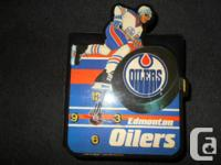 1989 EDMONTON OILERS CLOCK WORKING ORDER GREAT FOR