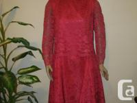 never worn, pink Lace & Satin Dress, the vintage Party