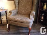 Beautiful Vintage Fireside Chair Re- Upholstered Nice