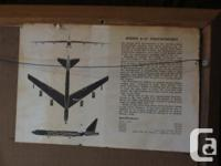 Large framed Boeing stratofortress picture in heavy
