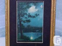 For sale is a Vintage Framed Calendar Print called