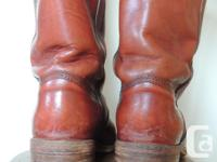 Vintage Fry leather boots size 10 men's, great