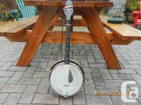 Vintage (prior to 1925) tenor banjo with resonator and