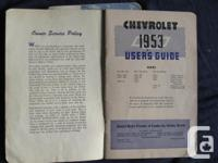 1953 Chevrolet Users Guide and 1955 GMC Truck