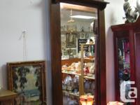 """- - SALE - on - NOW - - Vintage hall oak mirror 54"""""""