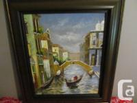 VENICE ITALY EUROPE OIL PAINTING ALLEY CANAL STREET