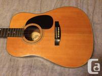 Vintage Hondo Acoustic Guitar  Model H-18  Made in