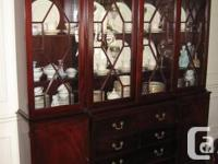 Lovely strong mahogany hutch in rich cherry finish. The