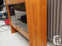 Very cool mid century modern teak hutch in very good