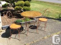 vintage ice cream parlour wooden / wrought iron round
