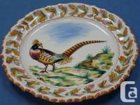 "Vintage Italian Hand Painted 14"" Round Platter with"