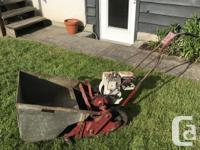 Vintage King O'Lawn reel type lawnmower with metal