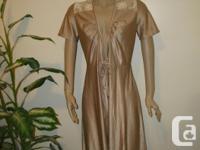 never worn, 1950's/60's 3/4 length retro silk Robe size