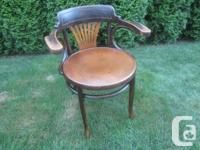 Antique Fan Back Bentwood Design Wooden Armchair.