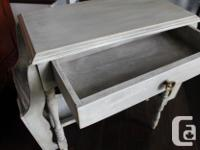 Vintage magazine/book table painted with various chalk